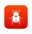 scarab icon digital red vector image vector image