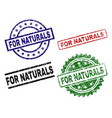 scratched textured for naturals seal stamps vector image vector image