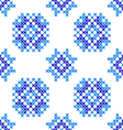 Seamless embroidered texture of abstract blue pat vector image vector image