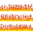 Seamless fire flames line set vector image vector image