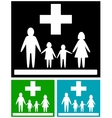 set family medical icons vector image vector image