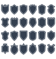 Set of different shield shapes icons borders vector image vector image
