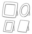 set of photo frame vector image vector image
