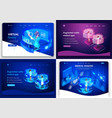 set of website templates landing page for business vector image