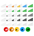 signal strength indicator set - flat graphics vector image