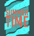 summer time typographic poster design vector image vector image