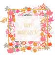 thanksgiving card with autumn abstract doodle vector image vector image