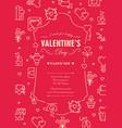 valentines day design postcard vector image