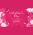 valentines day sale red magenta banner vector image vector image