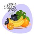 vegetable bowl slices of vegetables flat design vector image vector image