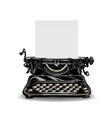 Vintage typewriter isolated on white background vector image