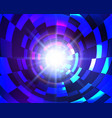 virtual space abstract blue circle technology vector image vector image