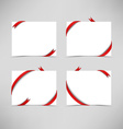 White card with red ribbons vector image vector image