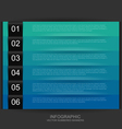 Cool color numbered banners vector image
