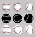set baseball balls vector image