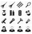 Set hair cut icons vector image