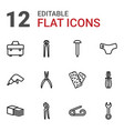 12 fix icons vector image vector image