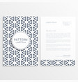 abstract business brochure template vector image vector image