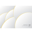 abstract white and gray gradient with gold border vector image vector image