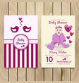 baby shower invitation template with hand vector image vector image