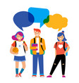 back to school background diversity concept vector image vector image