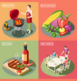 bbq grill design concept vector image vector image