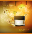 beauty anti aging cream ads vector image vector image