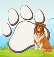 Border design with large dog vector image vector image