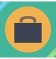 Briefcase icon - Flat design vector image