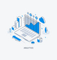 business analytic isometric vector image vector image