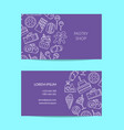 business card template with linear style vector image