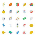 business isometric icons pack vector image