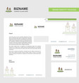 candles business letterhead envelope and visiting vector image vector image