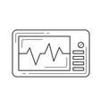 cardio monitor line icon vector image