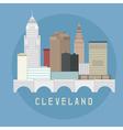 cleveland ohio usa flat design skyline vector image