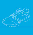 continuous one line drawing sneakers vector image vector image