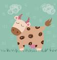cute cow idea forprint t-shirt vector image vector image
