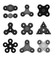 different black spinners vector image vector image