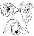 dog - black line vector image