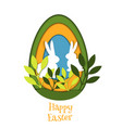 easter egg card banner background cut out vector image