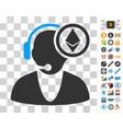 ethereum operator icon with bonus vector image vector image