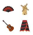 fan spanish mill guitar skirt for national vector image vector image