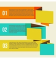 Flat Modern Curve colorful Design template vector image