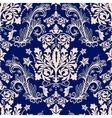 Floral border ornament Damask seamless pattern vector image vector image