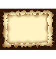 Frame from burnt paper vector image vector image