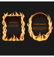 Frames on fire vector image