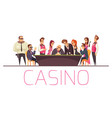 gaming casino people background vector image vector image