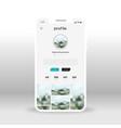 gray social network profile ui ux gui screen for vector image vector image