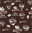 Hand Drawning coffee seamless pattern vector image vector image
