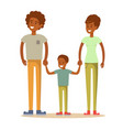 happy family father mother and son together vector image vector image